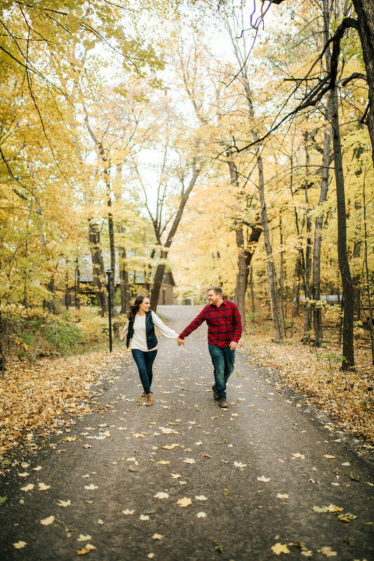 fall engagement photos mn