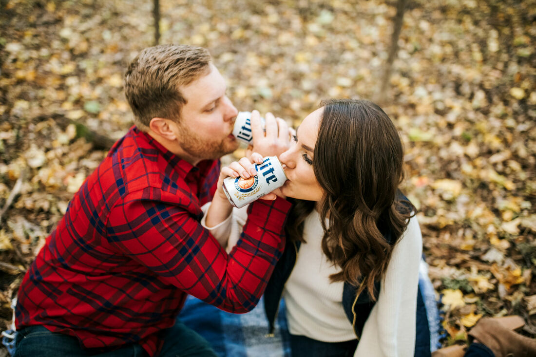 beer engagement session idea