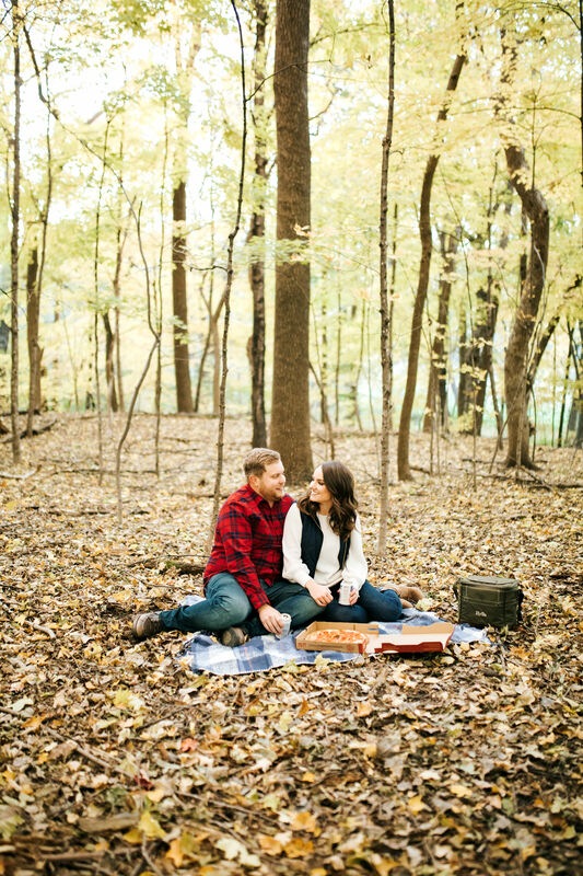 picnic engagement session idea